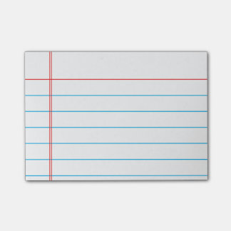 Personalized Customizable Lined Notebook Paper Post-it Notes