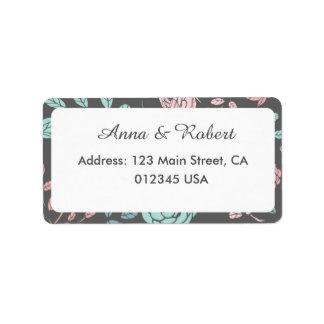 Personalized customizable vintage rose wedding address label