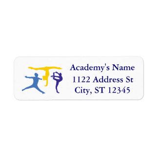 Personalized Customized Gymnastics Business Supply Return Address Label