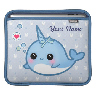Personalized Cute baby narwhal iPad Sleeve