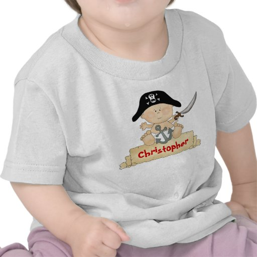 Personalized Cute Baby Pirate T-Shirt for Boys
