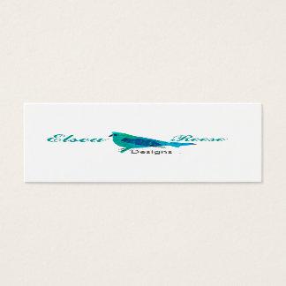 Personalized Cute Blue Bird Illustration Design Mini Business Card