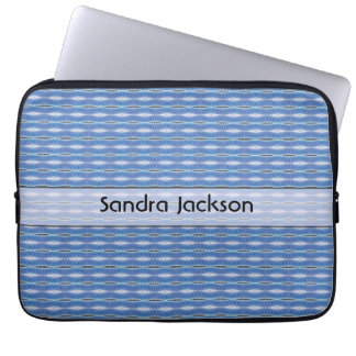 Personalized cute blue pattern laptop computer sleeves