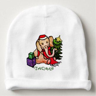 Personalized Cute Cartoon Christmas Elephant Baby Beanie