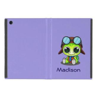 Personalized Cute Chibi Turtle in Aviator Hat iPad Mini Cover