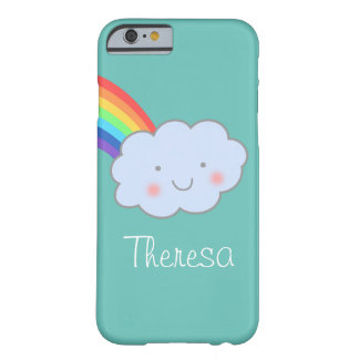 Personalized Cute Cloud and Rainbow Barely There iPhone 6 Case