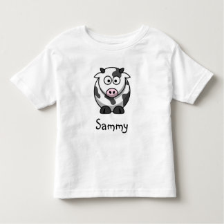 Personalized Cute Cow Cartoon Toddler T-Shirt