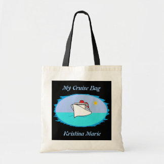 Personalized Cute Cruise Ship Budget Tote Bag