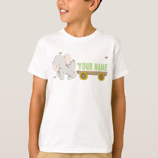 PERSONALIZED Cute Elephant Cart T-Shirt