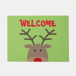 Personalized cute hedgehog welcome door mat