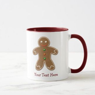 Personalized Cute Holiday Gingerbread Man