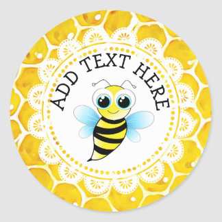 Personalized  Cute Honeybee Honeycomb Stickers