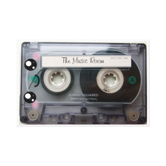 Personalized Cute Kawaii Cassette Tape Stretched Canvas Print