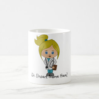Personalized Cute Lady Doctor  Mug - Blonde