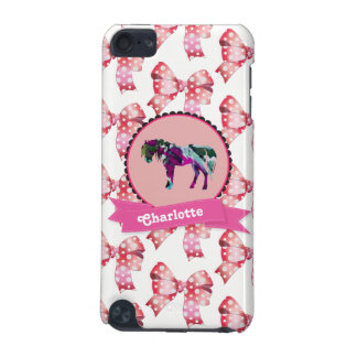 Personalized Cute Pink Modern Pony iPod Touch 5G Cover