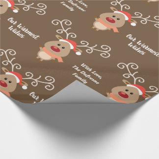 Personalized & Cute Reindeer Wrapping Paper