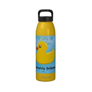 Personalized Cute Rubber Duck Kid's Water Bottle