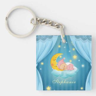 Personalized Cute Sleeping Baby | Keychain