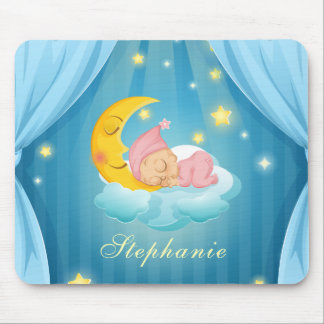 Personalized Cute Sleeping Baby | Mousepad