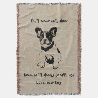 Personalized Cute Sweet Pet Dog Quotes Love Throw Blanket
