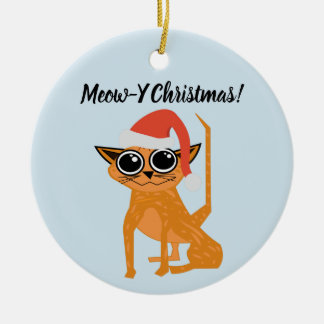 Personalized Cute Tabby Cat Ornament