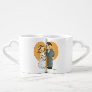 personalized cute wedding couple bride & groom lovers mugs