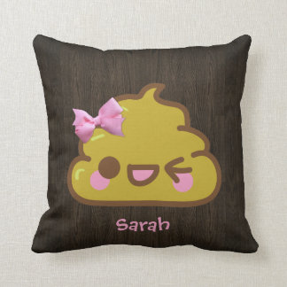 Personalized Cutey Poo with Pink Bow Cushion