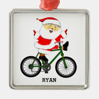 personalized cyclist gift metal ornament