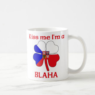 Personalized Czech Kiss Me I'm Blaha Coffee Mug