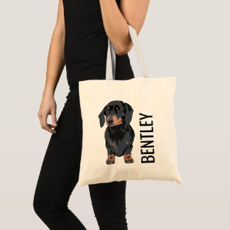 Personalized Dachshund Pet Name | Cute Doggy Goody Tote Bag