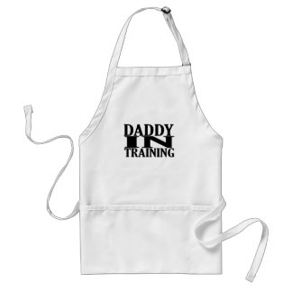 Personalized Daddy In Training Tshirt.png Adult Apron