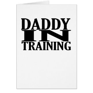 Personalized Daddy In Training Tshirt png Greeting Card
