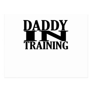 Personalized Daddy In Training Tshirt png Post Cards