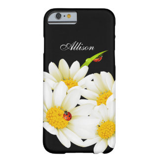 Personalized Daisies and Ladybugs iPhone 6 case