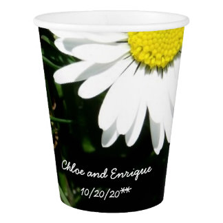 Personalized Daisy Wedding Paper Cup