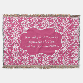 Personalized Damask Wedding/Keepsake Custom Pink