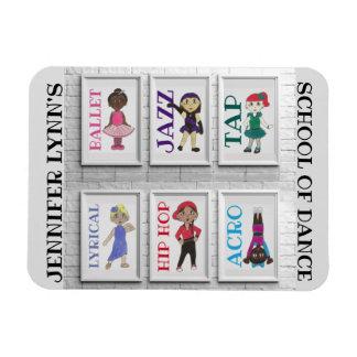 Personalized Dance Studio Teacher Ballet Tap Jazz Magnet