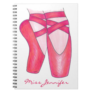Personalized Dance Teacher Ballet Shoes Notebook