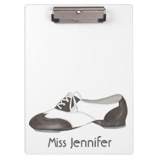 Personalized Dance Teacher Gift Tap Oxford Shoe Clipboard
