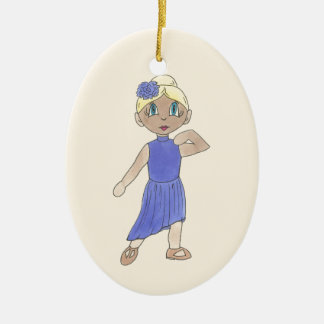 Personalized Dance Teacher Lyrical Modern Recital Ceramic Ornament