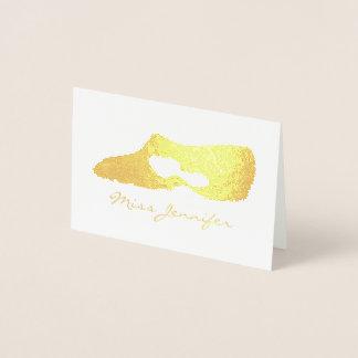 Personalized Dance Teacher Modern Lyrical Shoe Foil Card