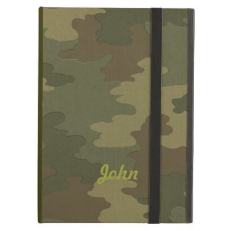 Personalized Dark Camouflage iPad Case