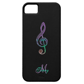 Personalized Dark Colorful Music Clef iPhone Case Cover For iPhone 5/5S