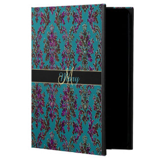 Personalized Dark Damask Colorful iPad Air 2 Case