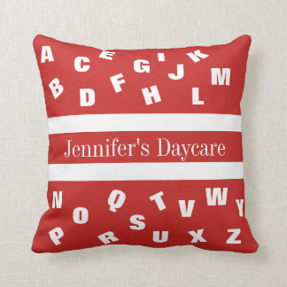 Personalized Daycare Alphabet Cushion