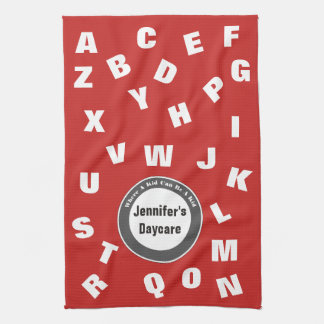 Personalized Daycare Alphabet Tea Towel