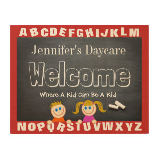 Personalized Daycare Alphabet Welcome Sign