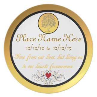 Personalized Death of A Loved One Memory Plate
