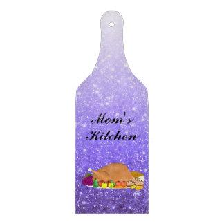 Personalized Decorative Faux Purple Glitter Cutting Board