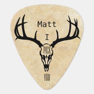 Personalized Deer Stag BUCK Plectrum